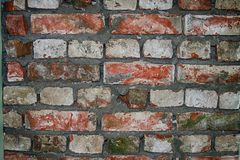 Wall from Bricks Abstract Background Pattern