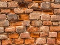 Wall of bricks. Wall of an ancient house Royalty Free Stock Images