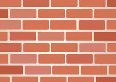 Wall of bricks background art vector Royalty Free Stock Photos
