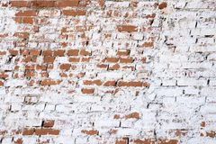Wall of bricks background texture with copy space stock photo