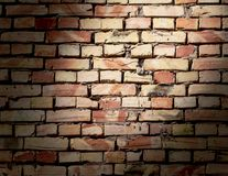 A wall of bricks in a house under construction as an abstract background stock photography