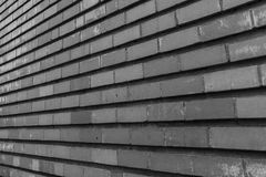 Wall of bricks and lines Royalty Free Stock Photography