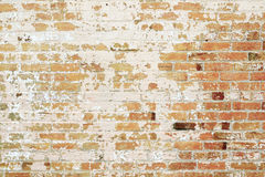 Wall of bricks with peeling paint Stock Photography