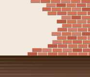 Wall of bricks and space background art vector Royalty Free Stock Images