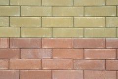 Wall bricks. Two tones of big wall bricks royalty free stock photo