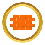 Wall of bricks vector icon Royalty Free Stock Photo
