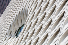 Wall of The Broad Museum in Los Angeles, California Stock Photography