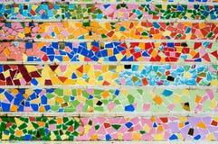 Wall broken tiles mosaic. Colour full broken wall tiles mosaic Royalty Free Stock Photos