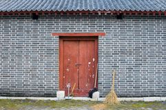 Wall with Broom Stock Photos