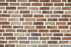 Background brick wall. Wall of brown brick. Can be used as a background Stock Images