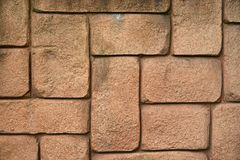 Wall of brown bricks Royalty Free Stock Photo