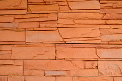 Wall. The wall is brown bricks in home Royalty Free Stock Photography