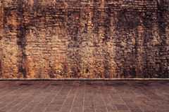 Wall in brown color Stock Image