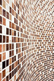 Wall with brown mosaic pattern. Bathroom Wall with brown mosaic pattern Royalty Free Stock Photo