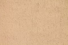 Wall of brown plaster Stock Photo
