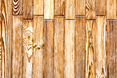 Wall of brown wooden planks - texture to background 1 Stock Photo