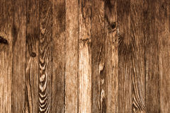 Wall of brown wooden planks - texture to background 6 Stock Photography