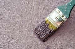 Wall brush Stock Photo