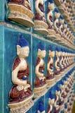 Wall of Buddha Stock Image
