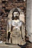 Wall and Buddha Royalty Free Stock Photography