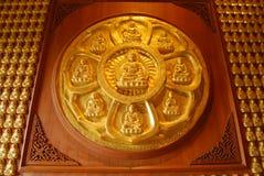 Wall of Buddha. Royalty Free Stock Photo