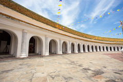 Wall buddha temple in Thailand Stock Photography