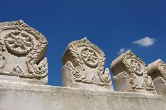 Wall of Buddhist Temple Stock Image