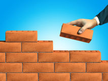Wall building Royalty Free Stock Photos