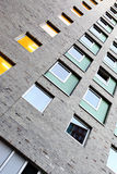 Wall of building. Wall of a modern apartment building Royalty Free Stock Photos
