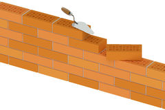Wall from building bricks, construction concept Stock Images