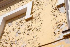 Wall of an old building royalty free stock photo