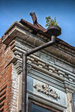 Wall of the building of the 19th eyelid. With an iron drainpipe Royalty Free Stock Photos