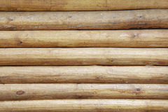 Wall of building - wooden logs Royalty Free Stock Image