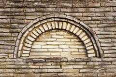 Wall built of natural stone, perspective. Royalty Free Stock Image