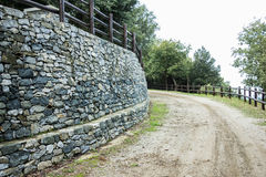 A wall built with stones Stock Photos
