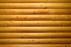 Wall of bulgin wooden planks Royalty Free Stock Photos