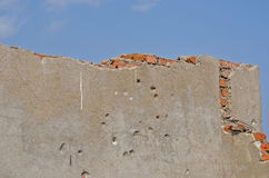 Wall with bullet-holes 4 Stock Photo