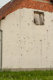 Wall with bullets holes, Croatia. Stock Photos
