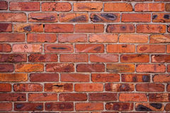 Wall with burned bricks Stock Photo