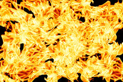 Wall of burning fire background Stock Images