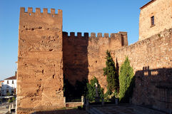 Wall of Caceres. Remains of the former wall of Caceres to the late afternoon Royalty Free Stock Photography