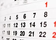 Wall calendar Stock Photos