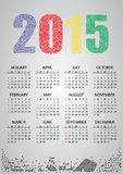 2015 wall calendar from numbers. Eps10 Royalty Free Stock Photo