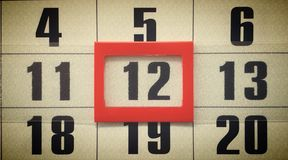 Wall calendar. Royalty Free Stock Images