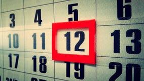 Wall calendar. Stock Photo