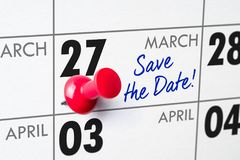 March 27 royalty free stock image