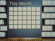 Wall calendar. Schedule memo management organizer concept Royalty Free Stock Photo