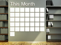 Wall calendar. Schedule memo management organizer concept Royalty Free Stock Images