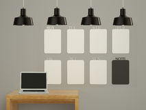 Wall calendar. Schedule memo management organizer concept. Stock Photo