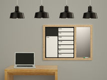 Wall calendar. Schedule memo management organizer concept. Royalty Free Stock Images